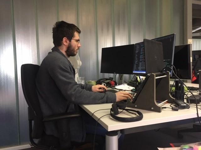 Erik bei der Arbeit
