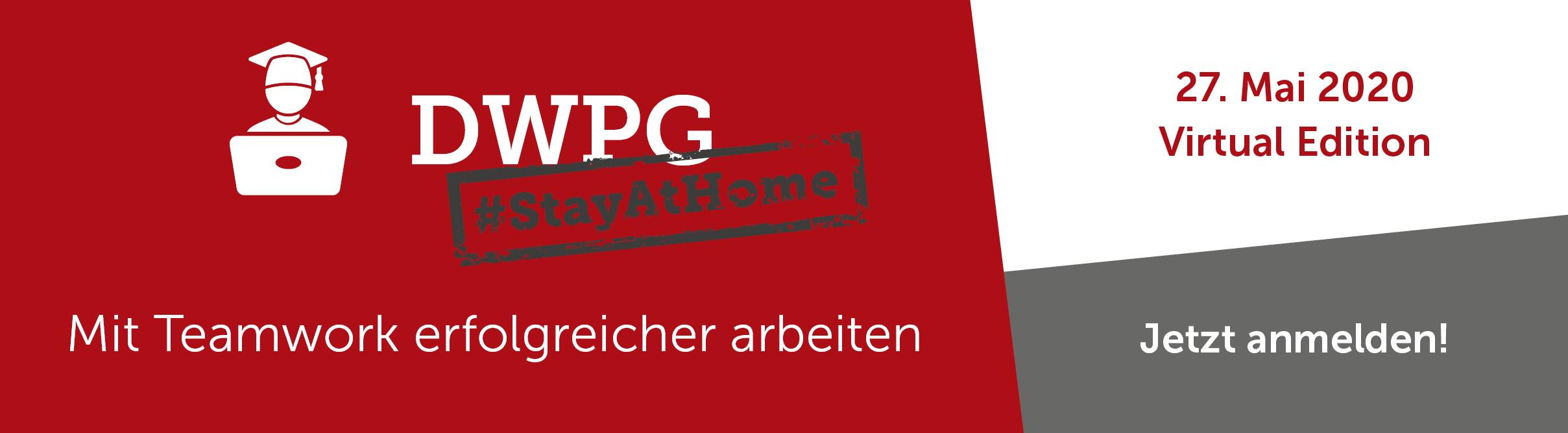 Zur DWPG Virtual Edition anmelden