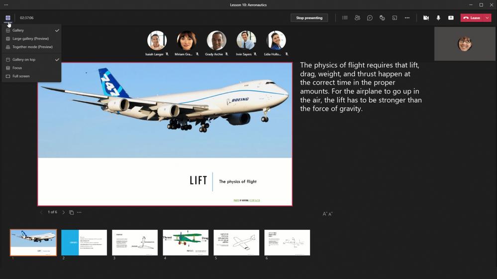 virtuelle Besprechungen_View Switcher